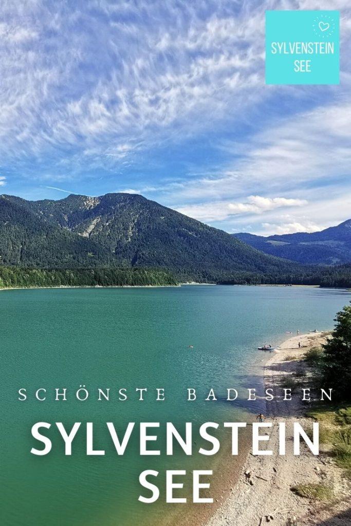 Sylvensteinsee baden - so schaut der Badestrand rund um den See aus
