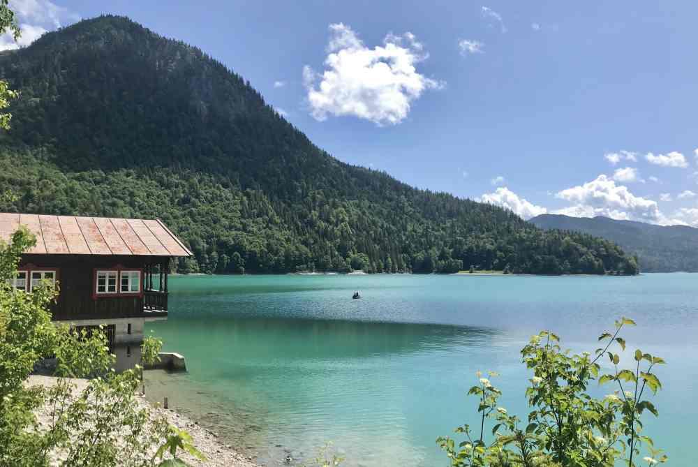 MTB Walchensee - zwei Seentour mit dem Fahrrad: Vom Sylvenstein zum Walchensee