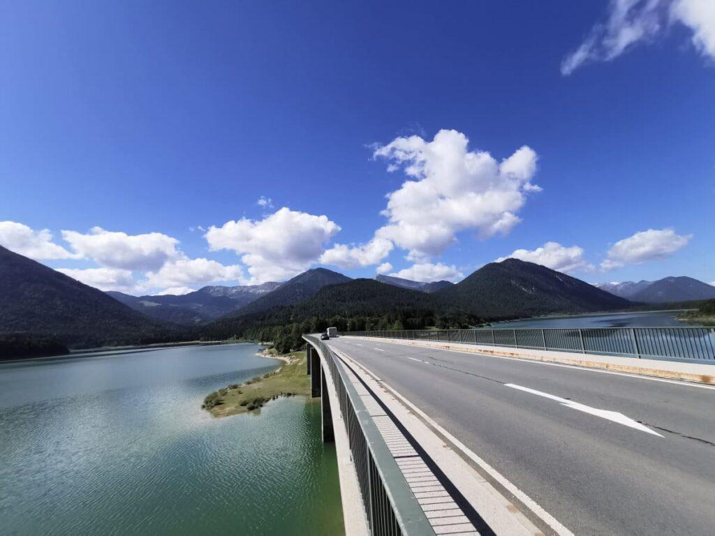 """Das ist die Faller Klamm Brücke - besser bekannt als die """"Sylvensteinsee Brücke"""""""