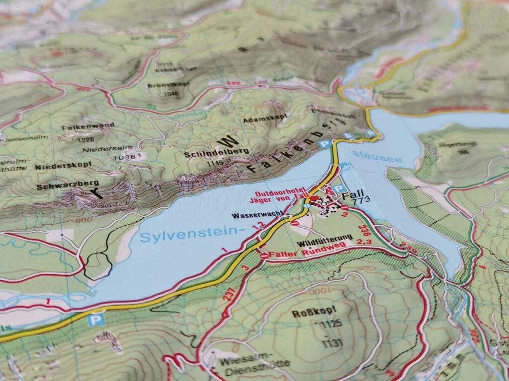 Meine perfekte Sylvensteinsee Karte von Kompass